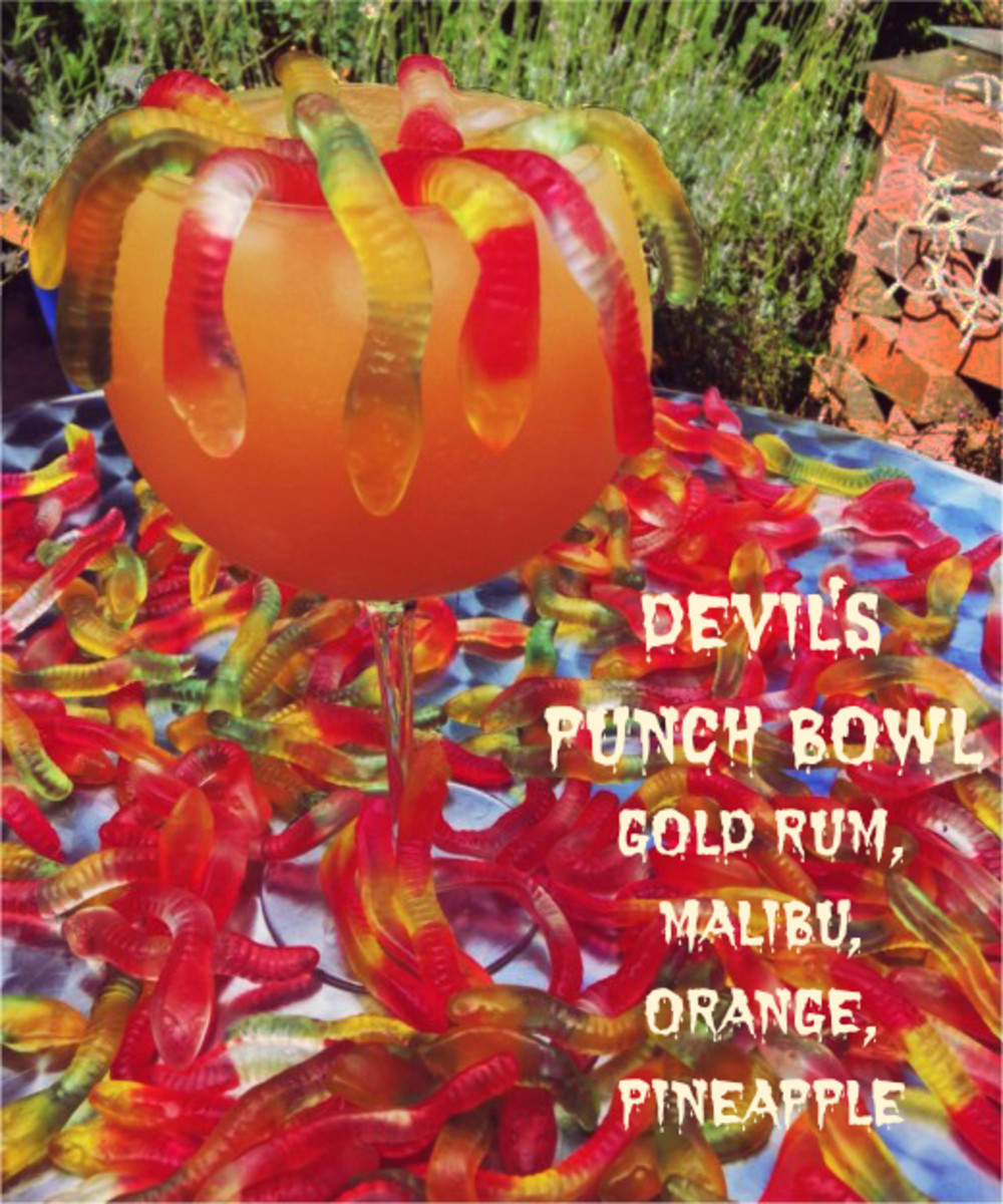 Devil's Punch Bowl Halloween Cocktail