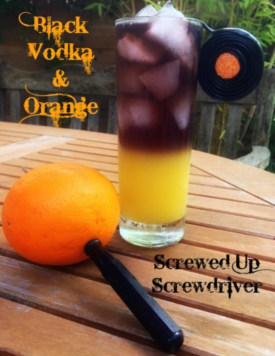 Screwed Up Screwdriver - Black Vodka and Orange