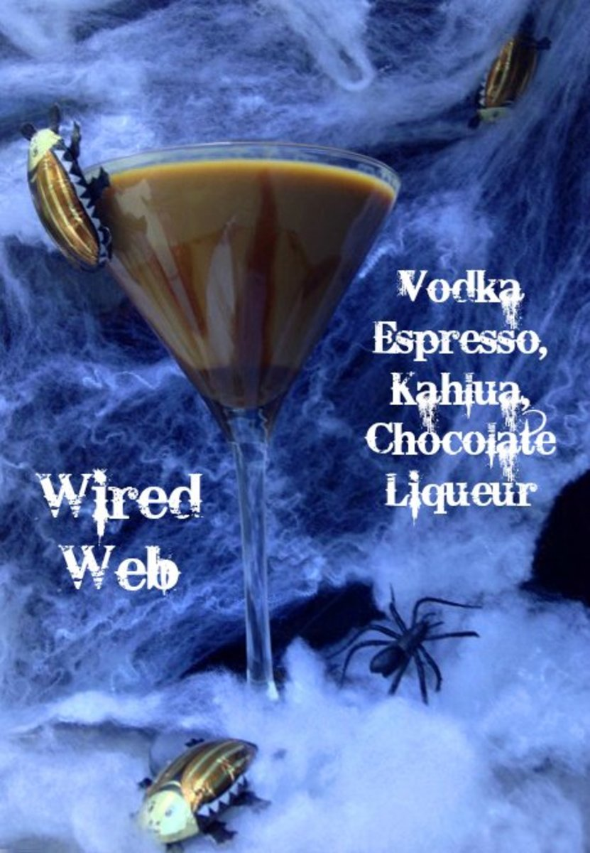 Wired Web Halloween Cocktail
