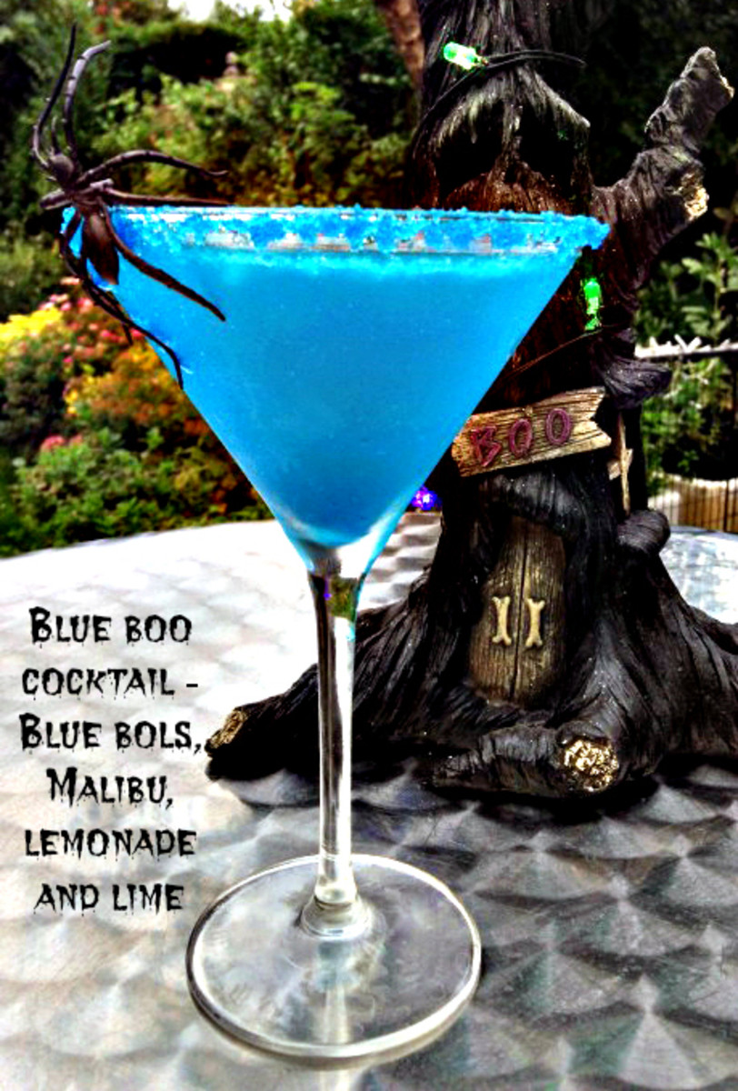 Blue Boo Halloween Cocktail