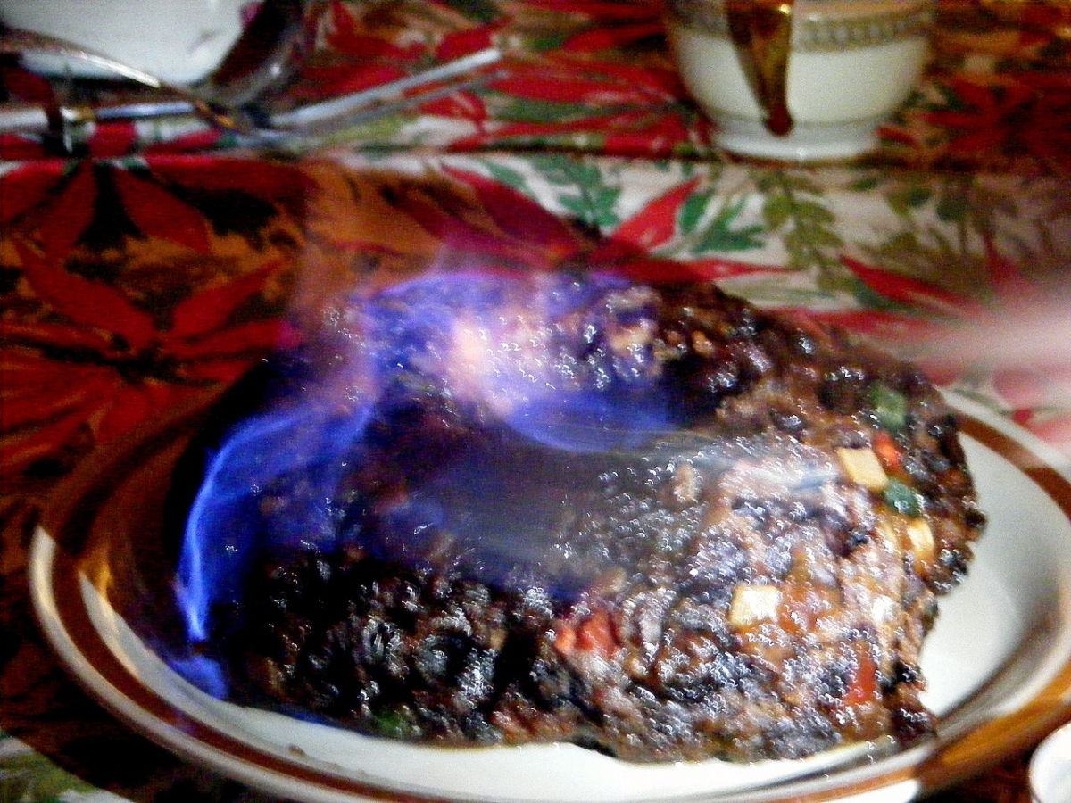 Figgy Pudding Aflame With Brandy