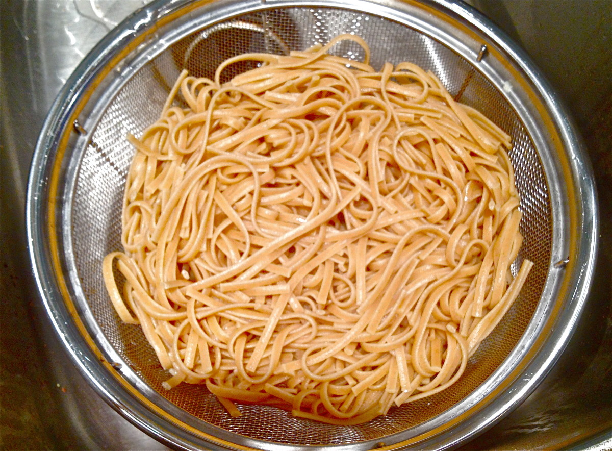 Cook pasta according to package instructions and set aside.