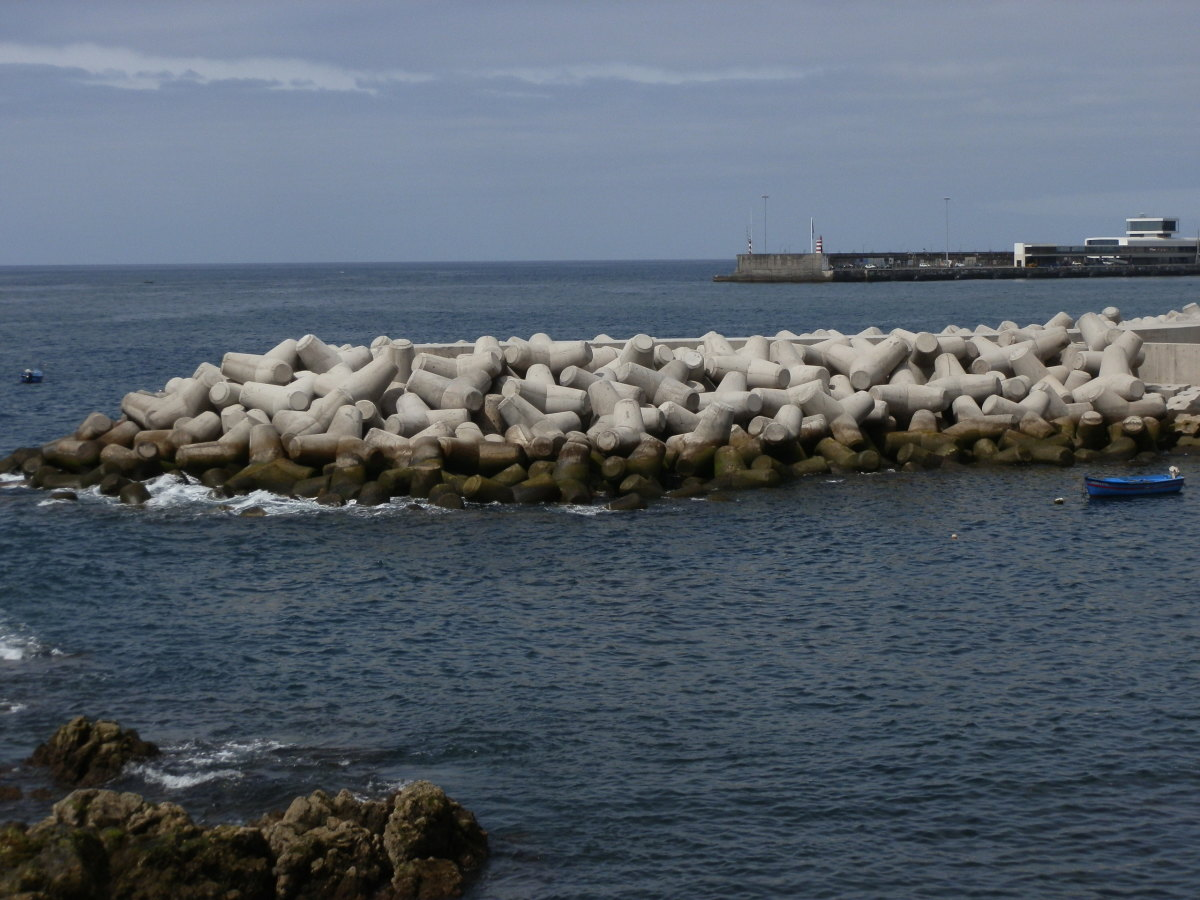 Cork production plays a huge role in Madeira's economy, and reminders of its importance are everywhere, including in this breakwater on the Funchal promenade