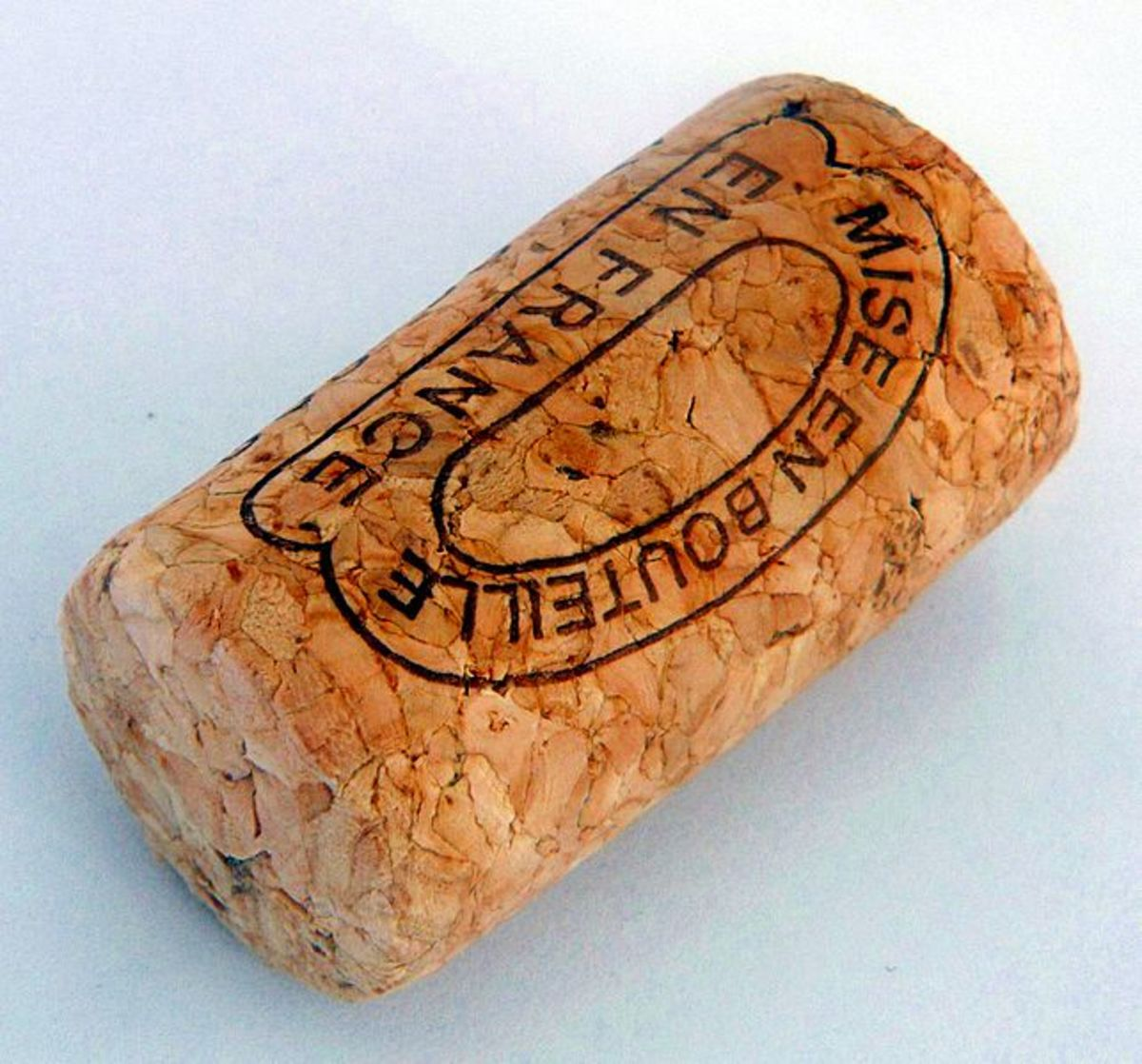 A traditional cork wine stopper