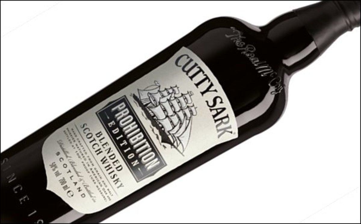 Cutty Sark Prohibition. A bolder and stronger whisky than classic Cutty Sark. There are notes of fudge and fruit on the palate for me, with crushed nuts. The finish is rich and caramel..