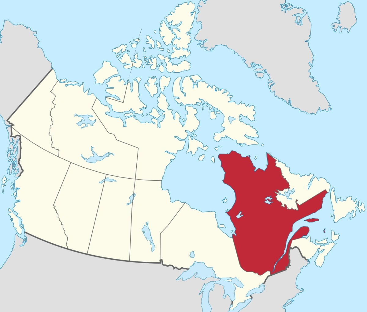 Poutine was created in the Canadian province of Quebec.