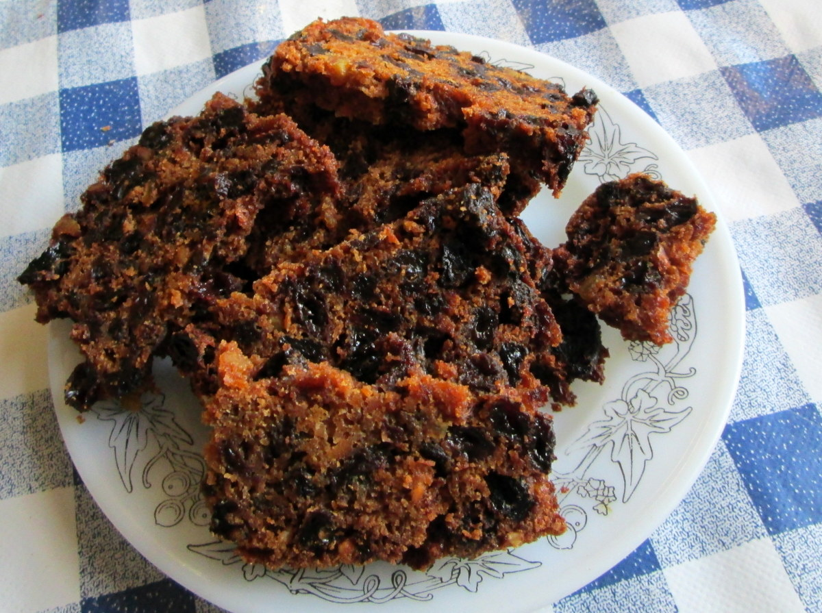 This delicious fruitcake is ready to serve
