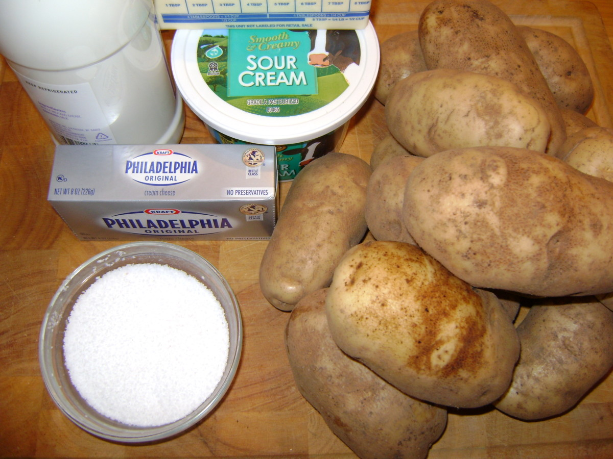 These simple ingredients will be transformed into delicious super mashed potatoes using this recipe