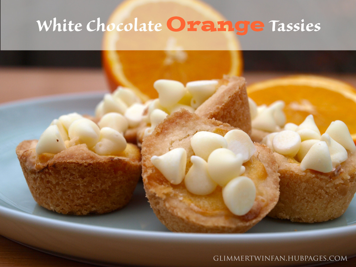 White chocolate orange tassies recipe.