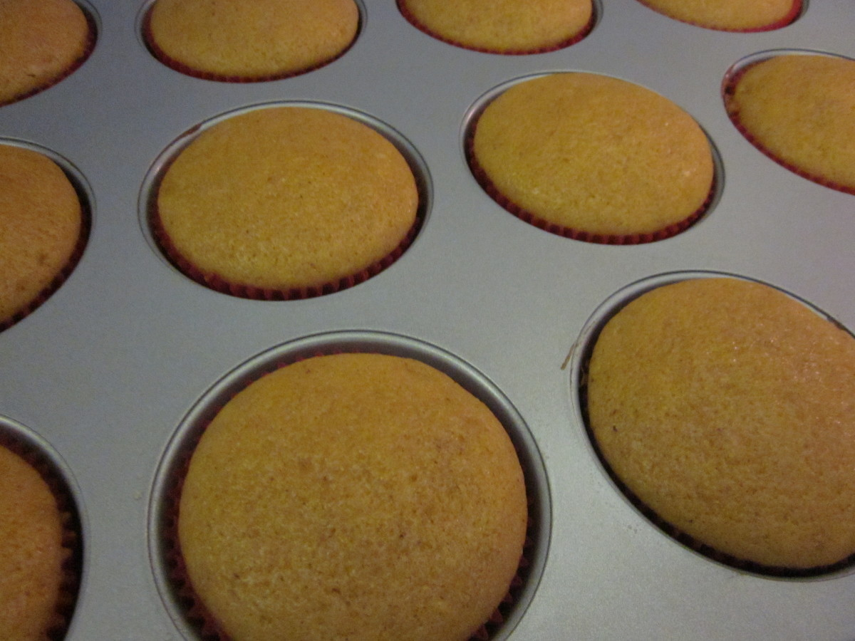 The baked cupcakes