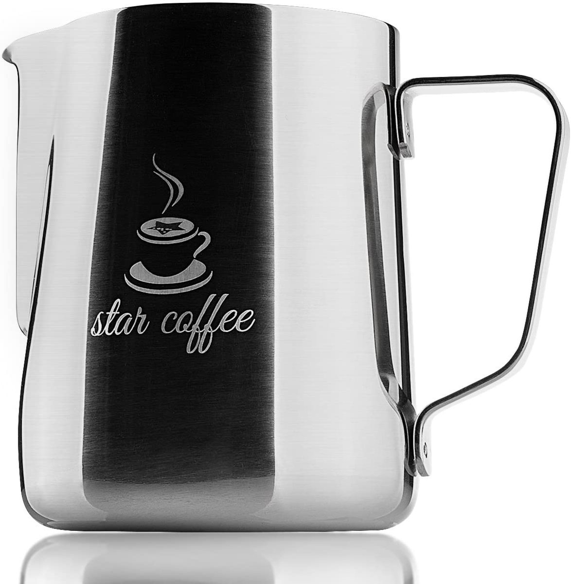 Star Coffee 20, 12 or 30oz Stainless Steel Milk Frothing Pitcher.