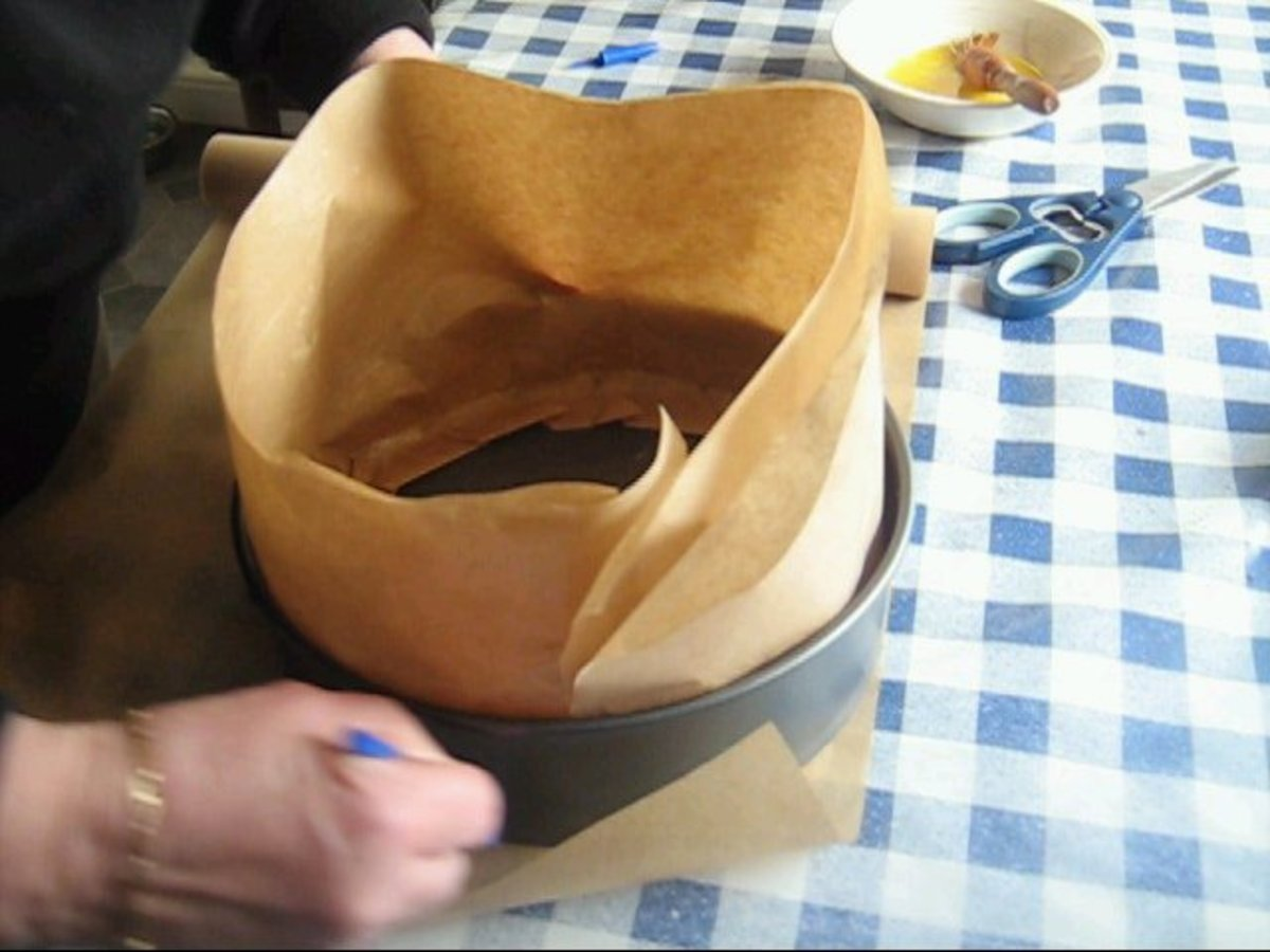 Measure the Greaseproof paper