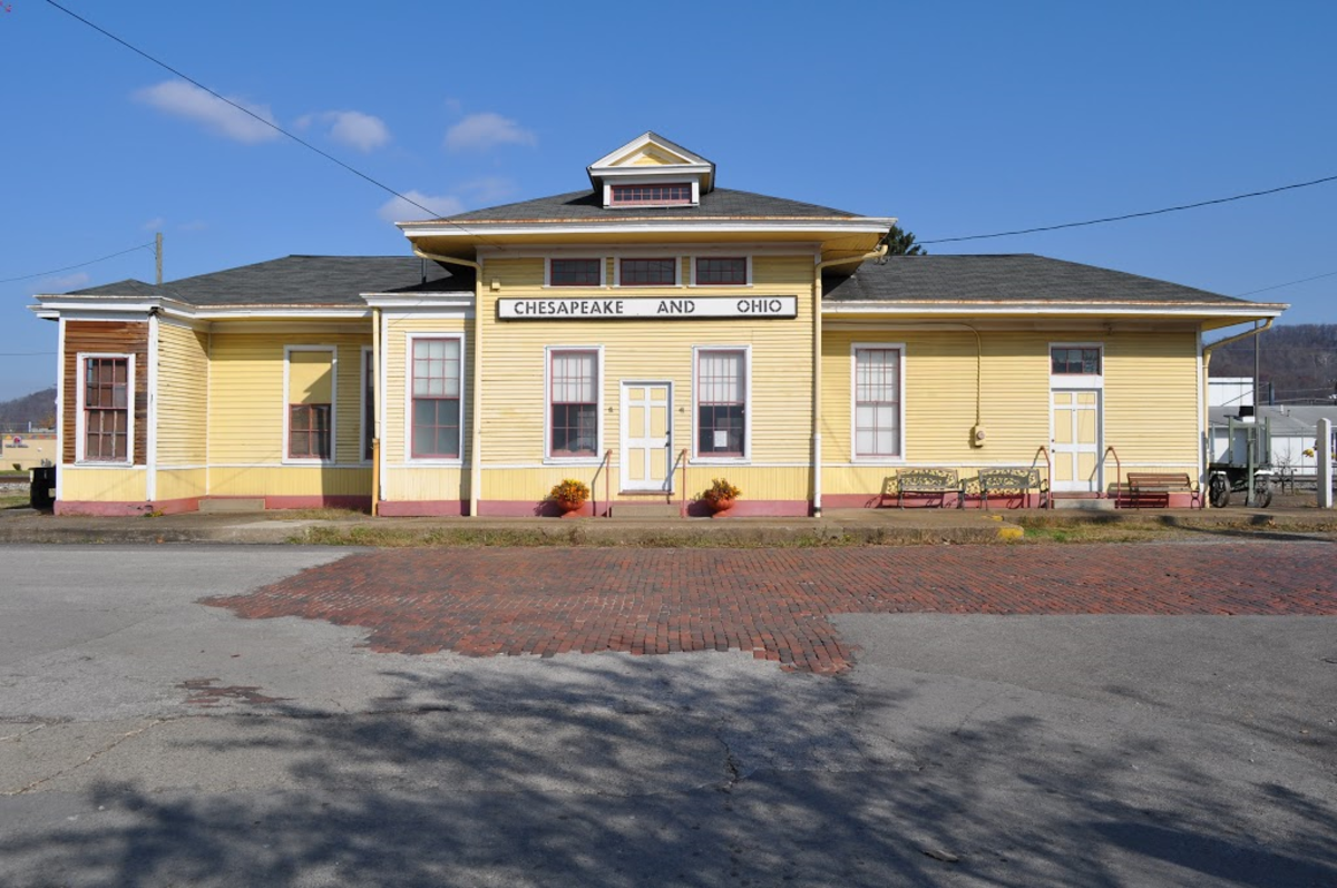 The old (refurbished) C & O Train Station. Saint Albans, West Virginia
