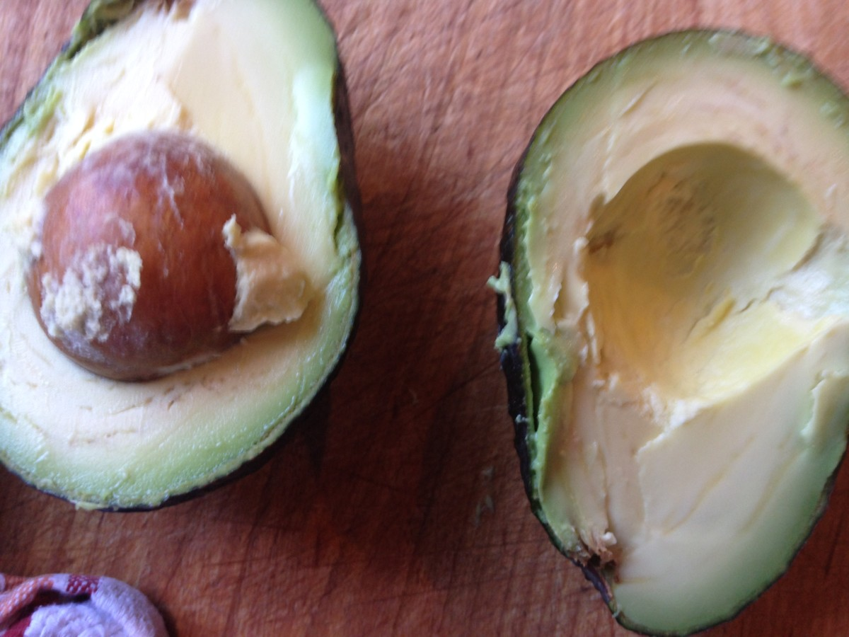 Step 1: Cut your avocados lengthwise