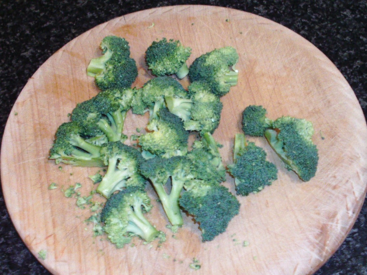 Broccoli chopped for cooking