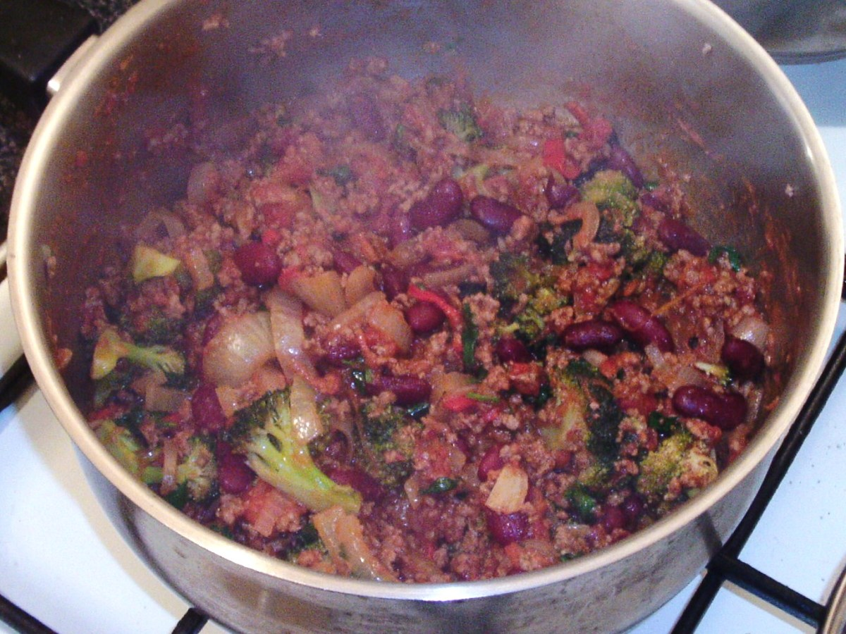 Beef and broccoli chilli is ready to serve