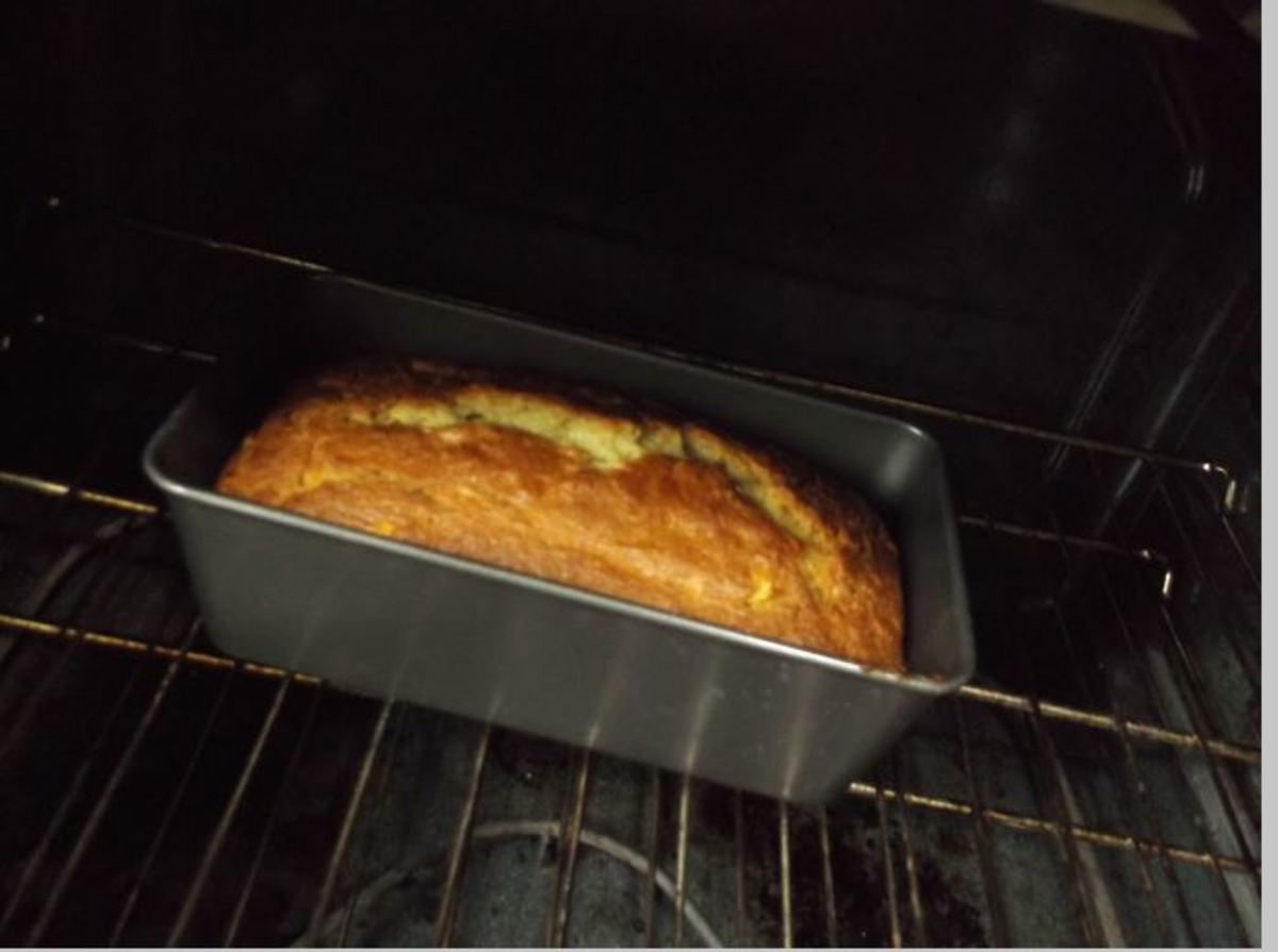 After 50 minutes, a lovely sweet and cake-like smell.