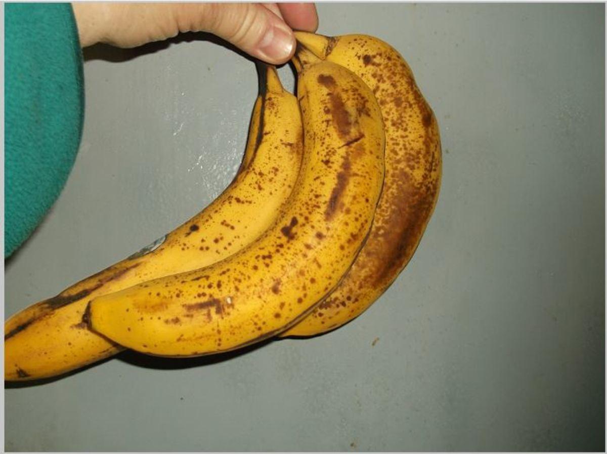 Overripe bananas have the best flavor,