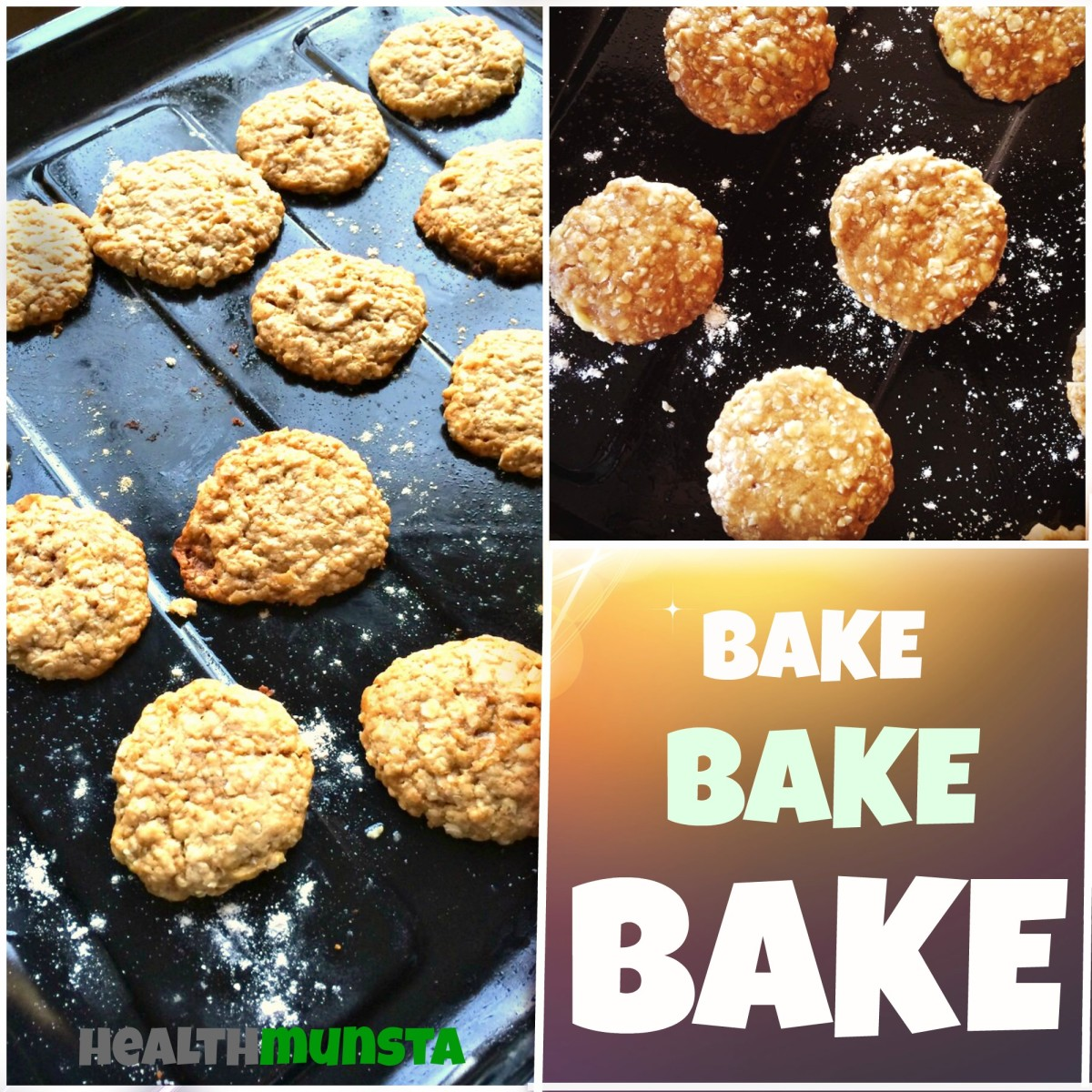 The baked cookies.