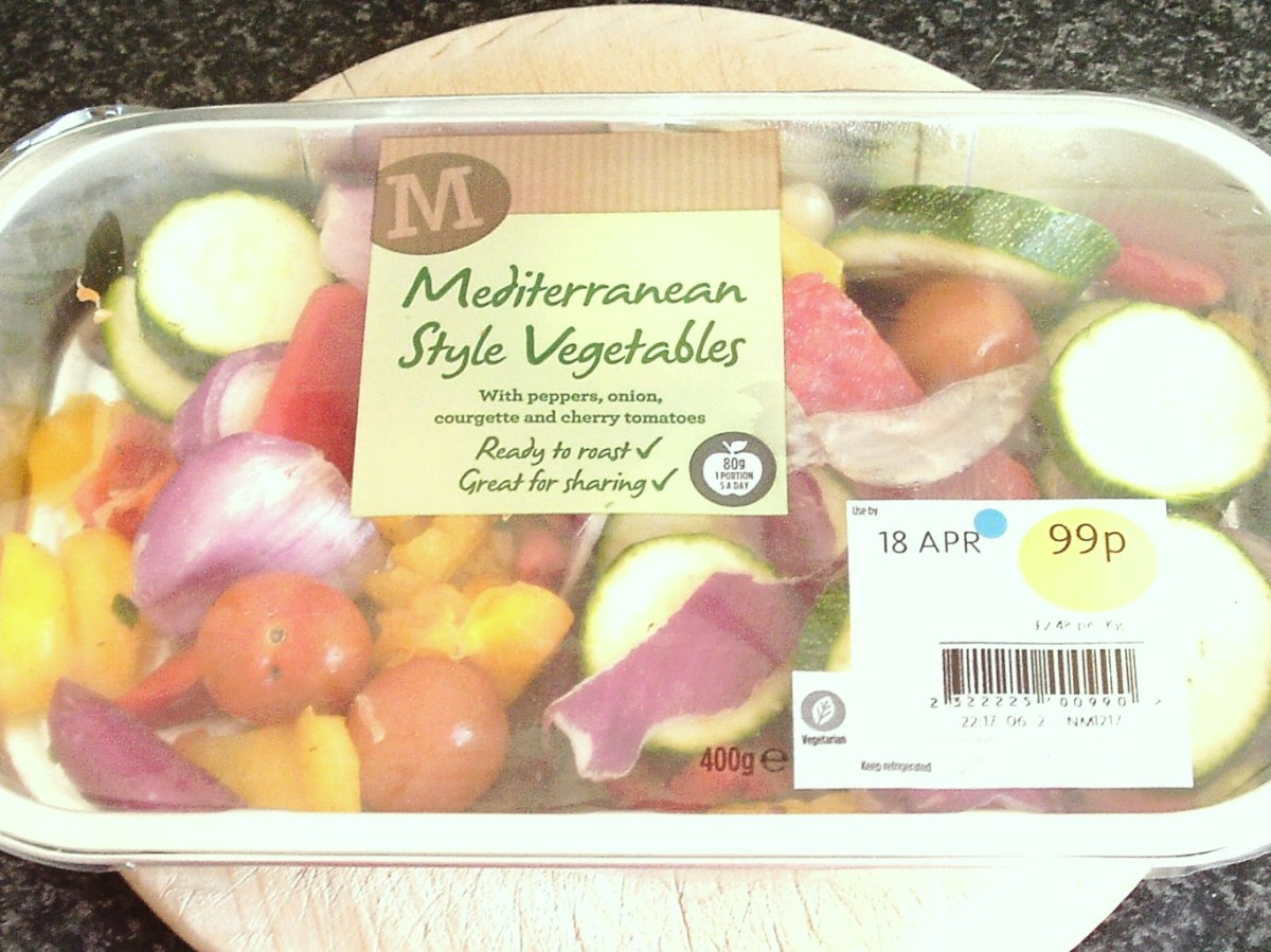 Mixed supermarket roasting vegetables