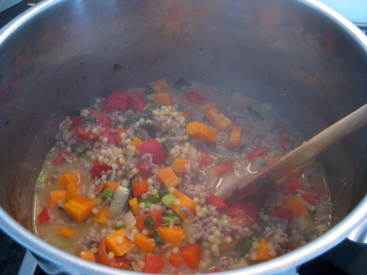 As the couscous simmers you'll notice it getting bigger and bigger....