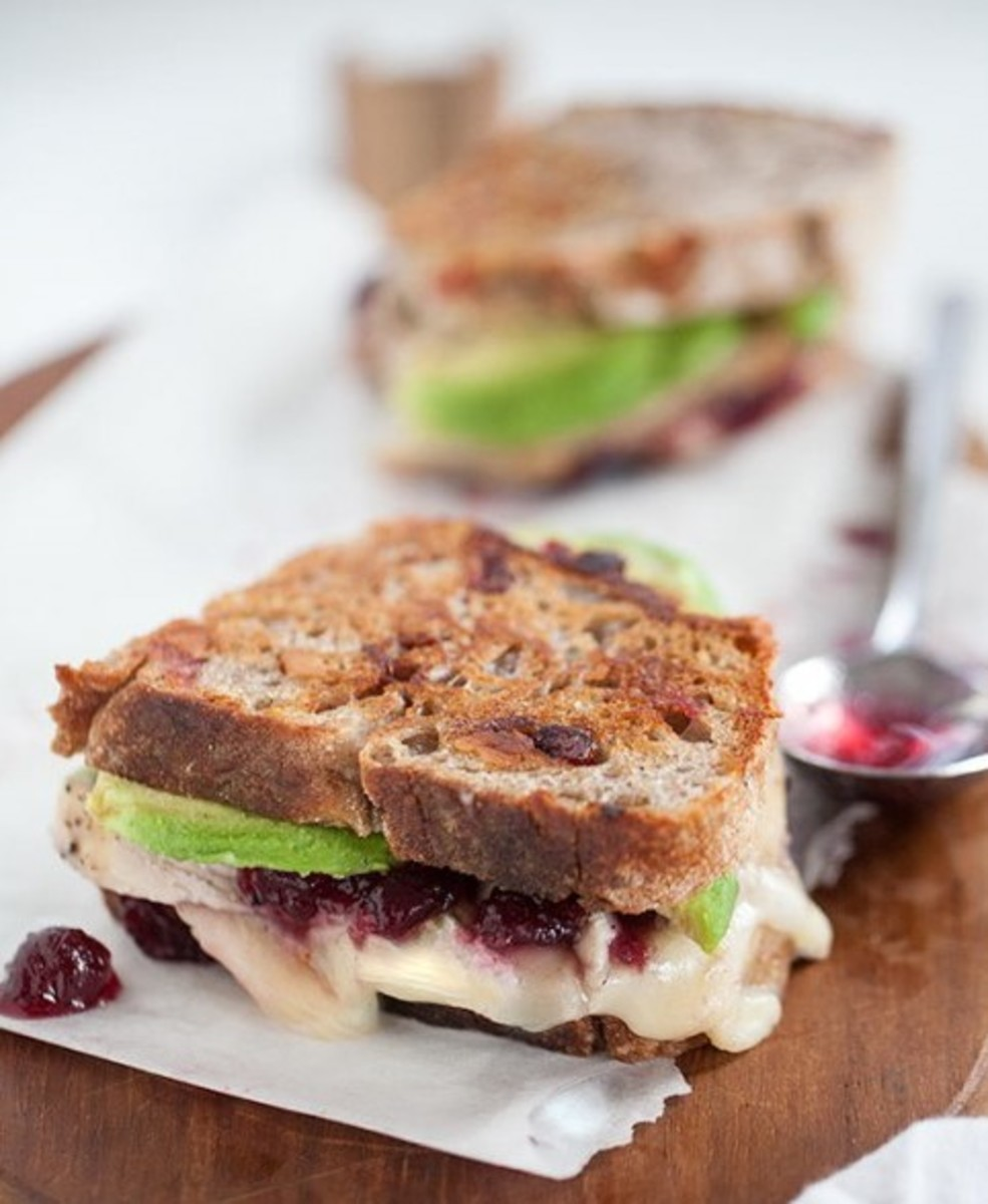 Turkey, Brie, and Cranberry Sauce