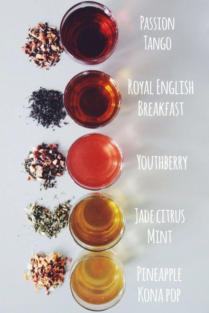 Hot Tea and Iced Starbucks Tea