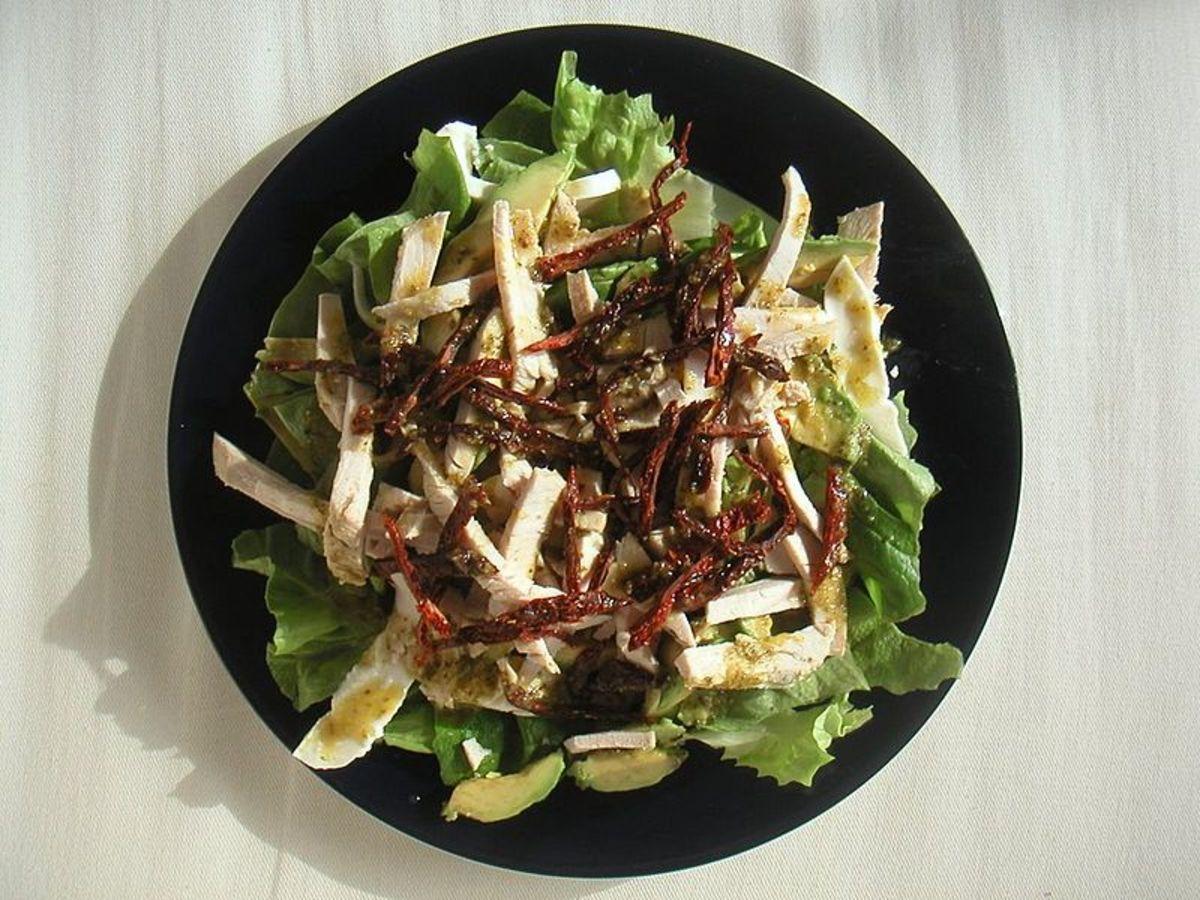 Sicilian salad (gluten-free).