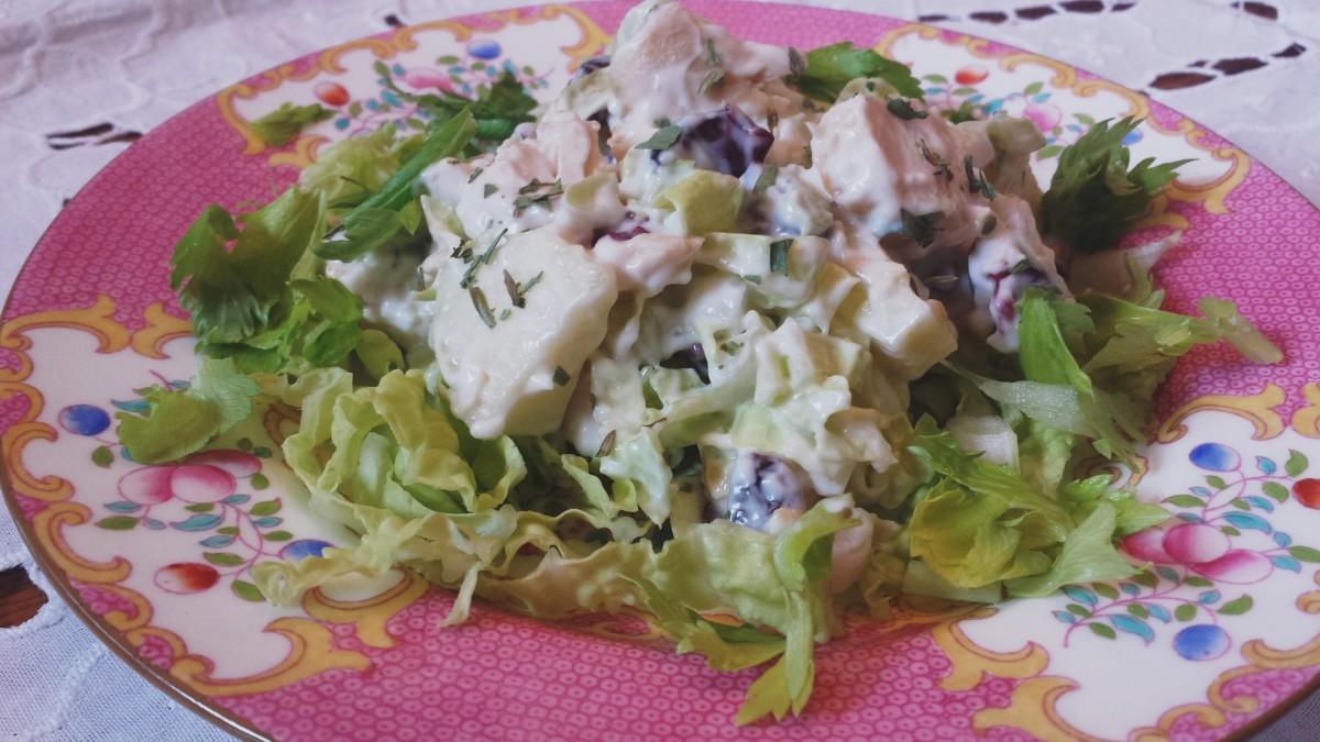 Chicken tarragon waldorf salad