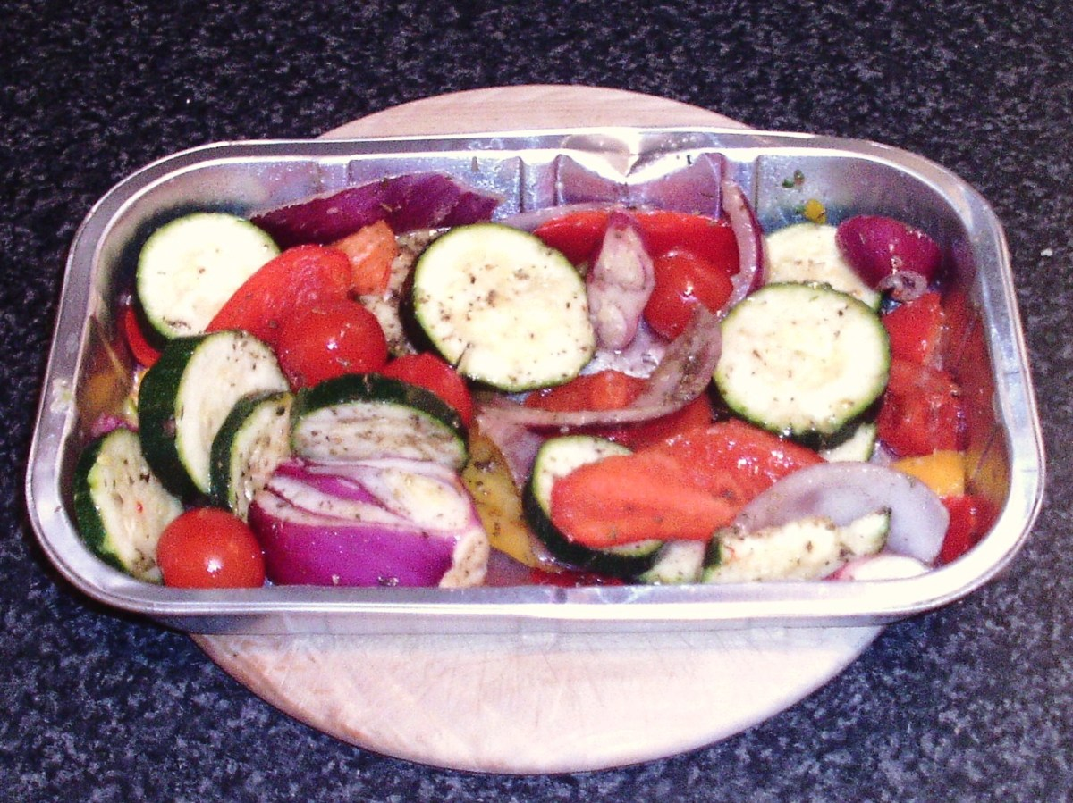 Mixed Mediterranean vegetables for roasting
