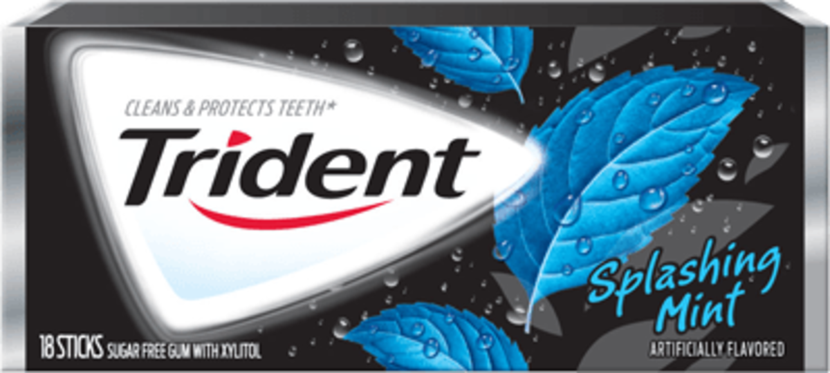 Trident Splashing Mint gum
