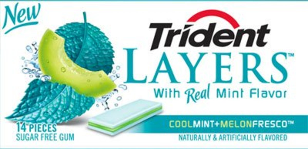 Trident Layers: Cool Mint and Melon Fresco