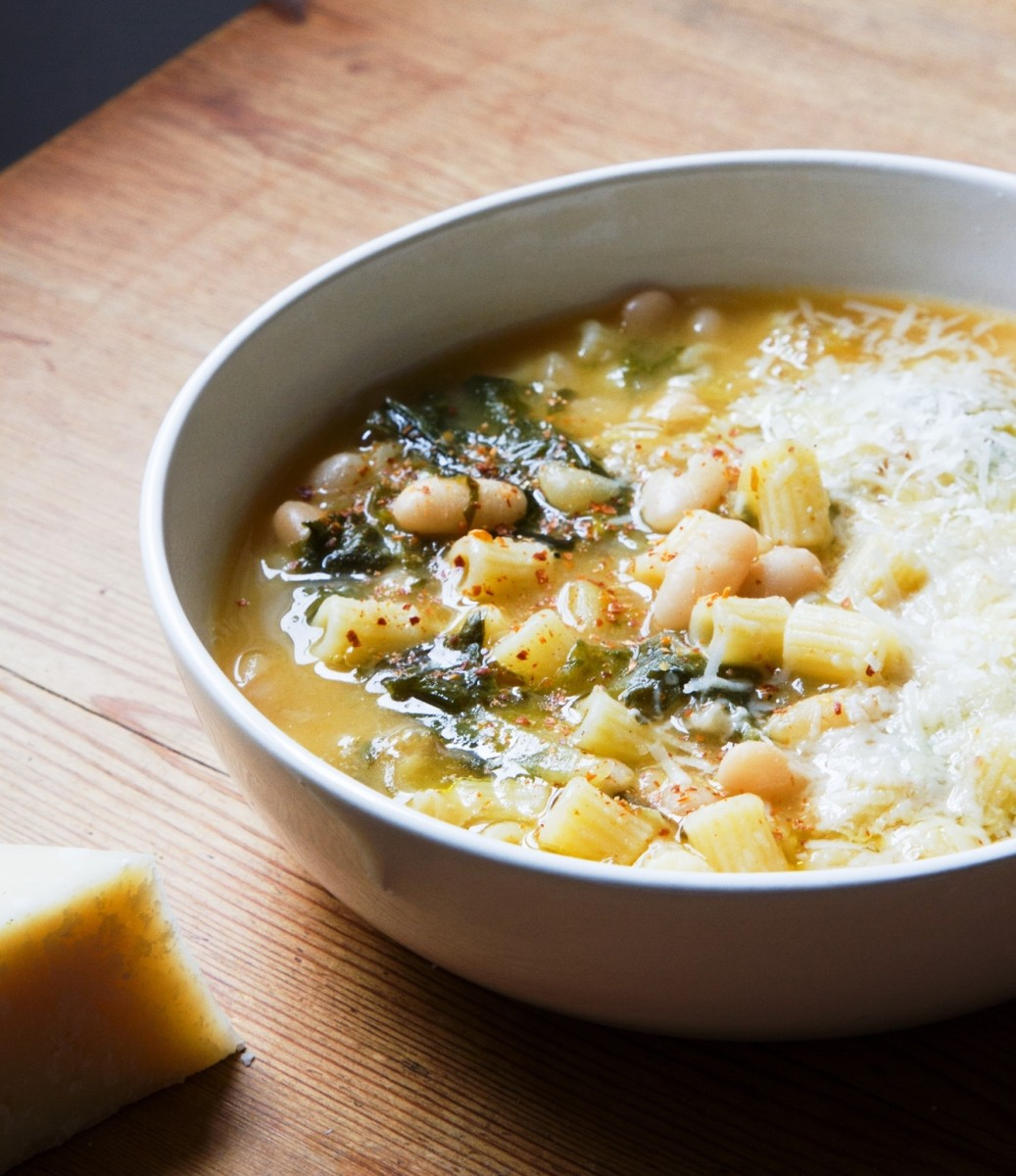 Waste not want not white bean escarole soup