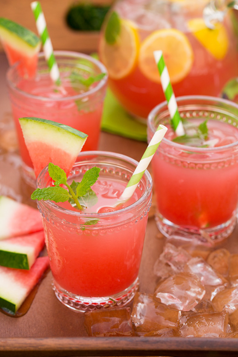Watermelon lemonade.