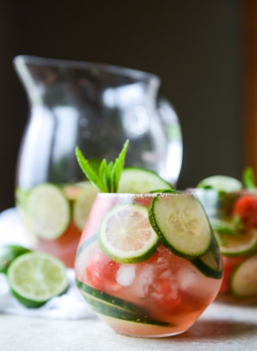 Cucumber watermelon sangria.