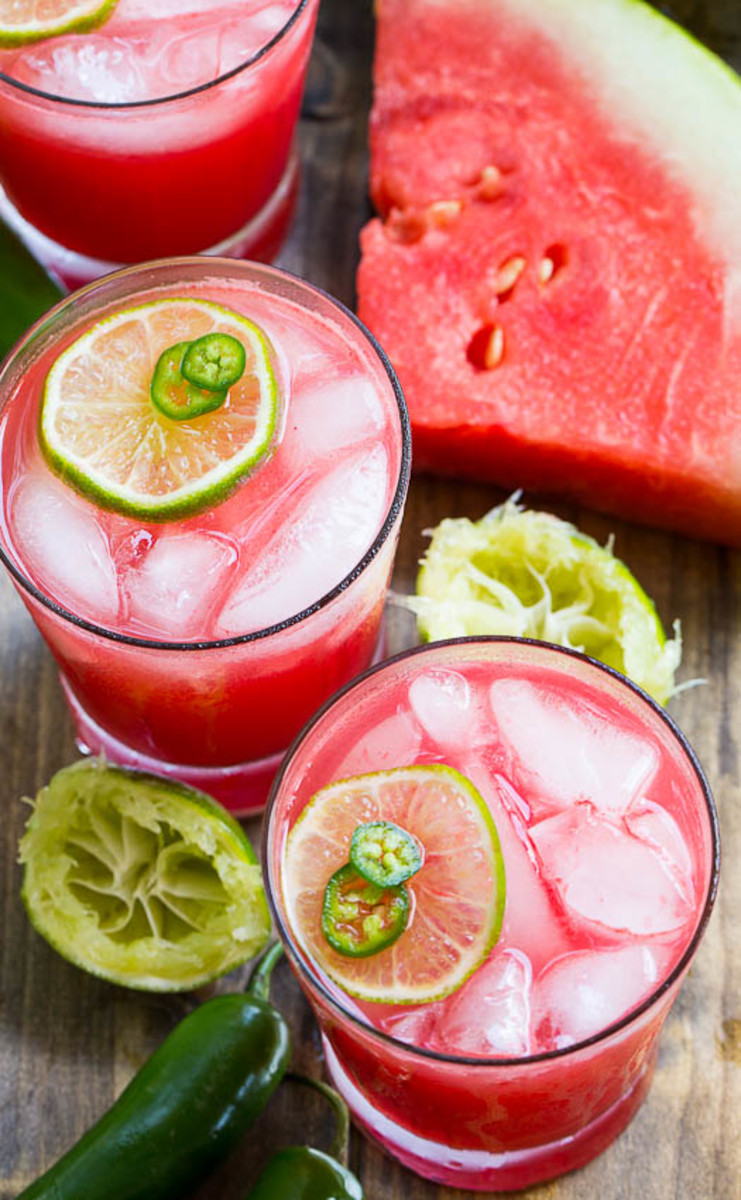 Jalapeno watermelon margarita.