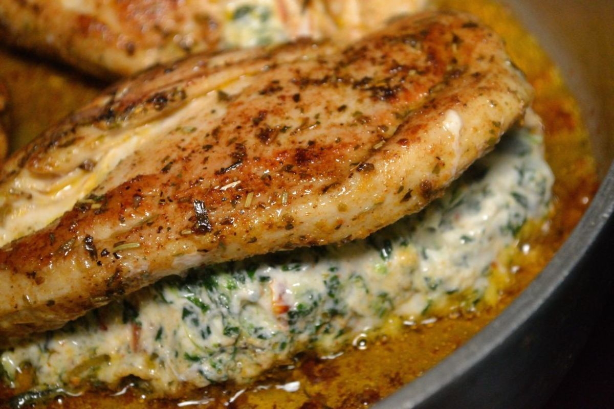Tuscan Stuffed Chicken Breasts