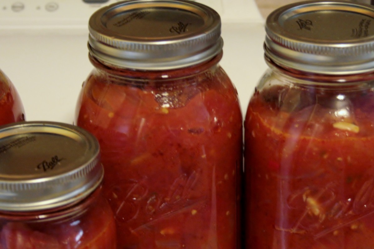 Rather than processing canned sauce in a water bath, we simply freeze the jars.