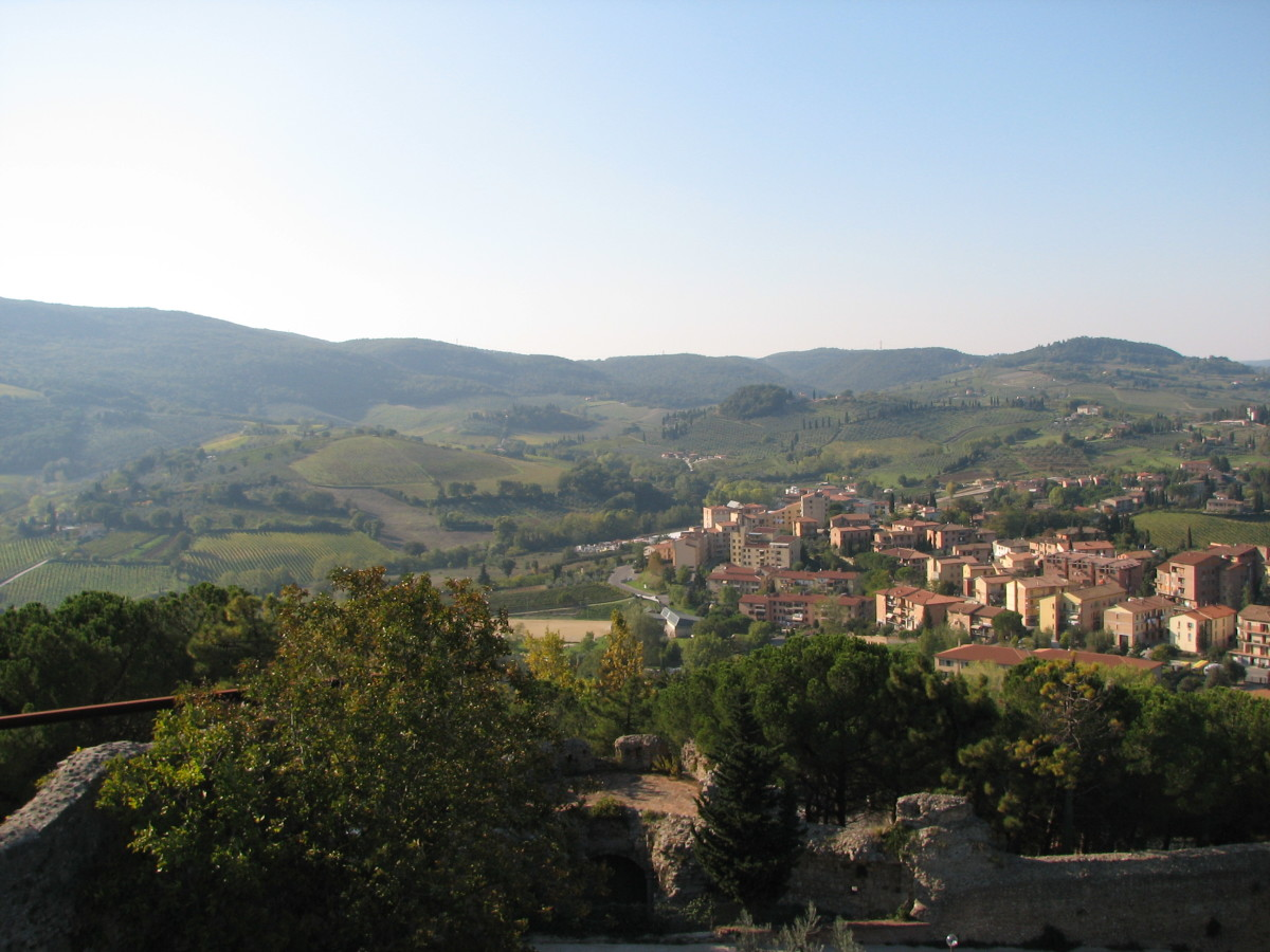 View of countryside, San Gimigiano