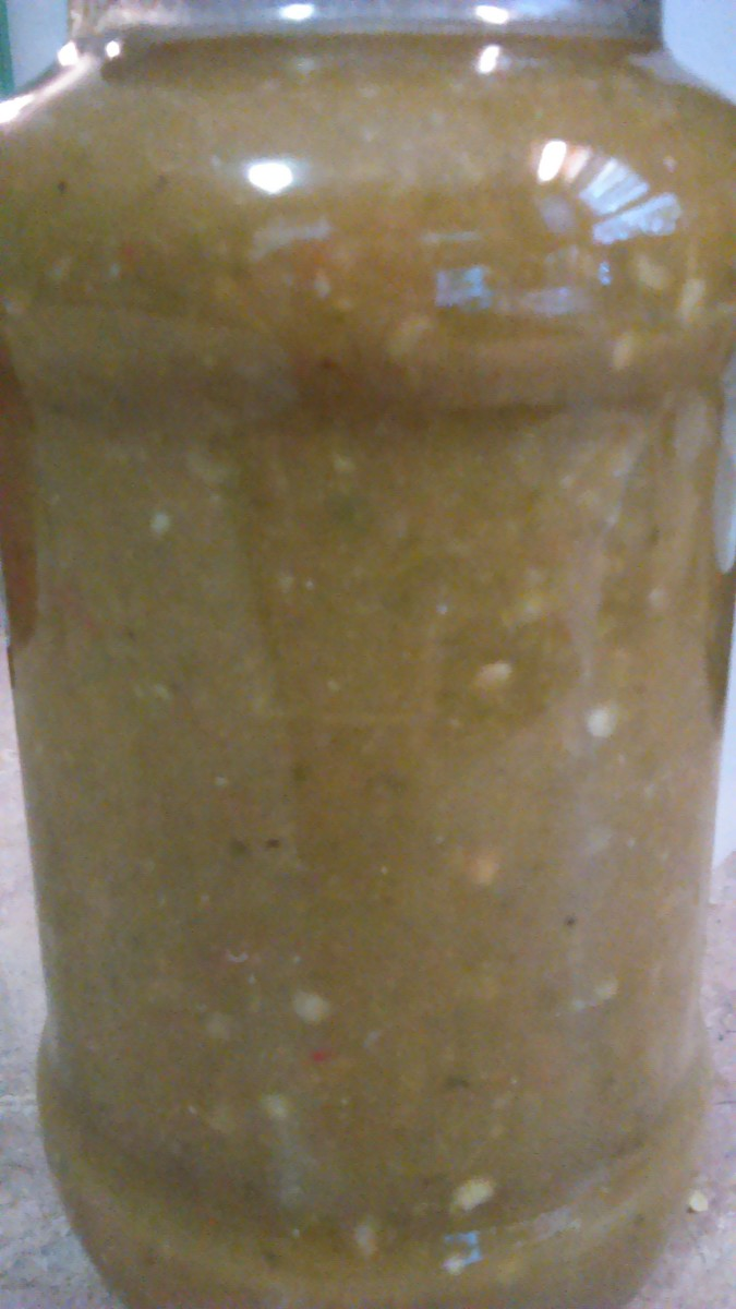 Finished Homemade Jalapeno Hot Sauce