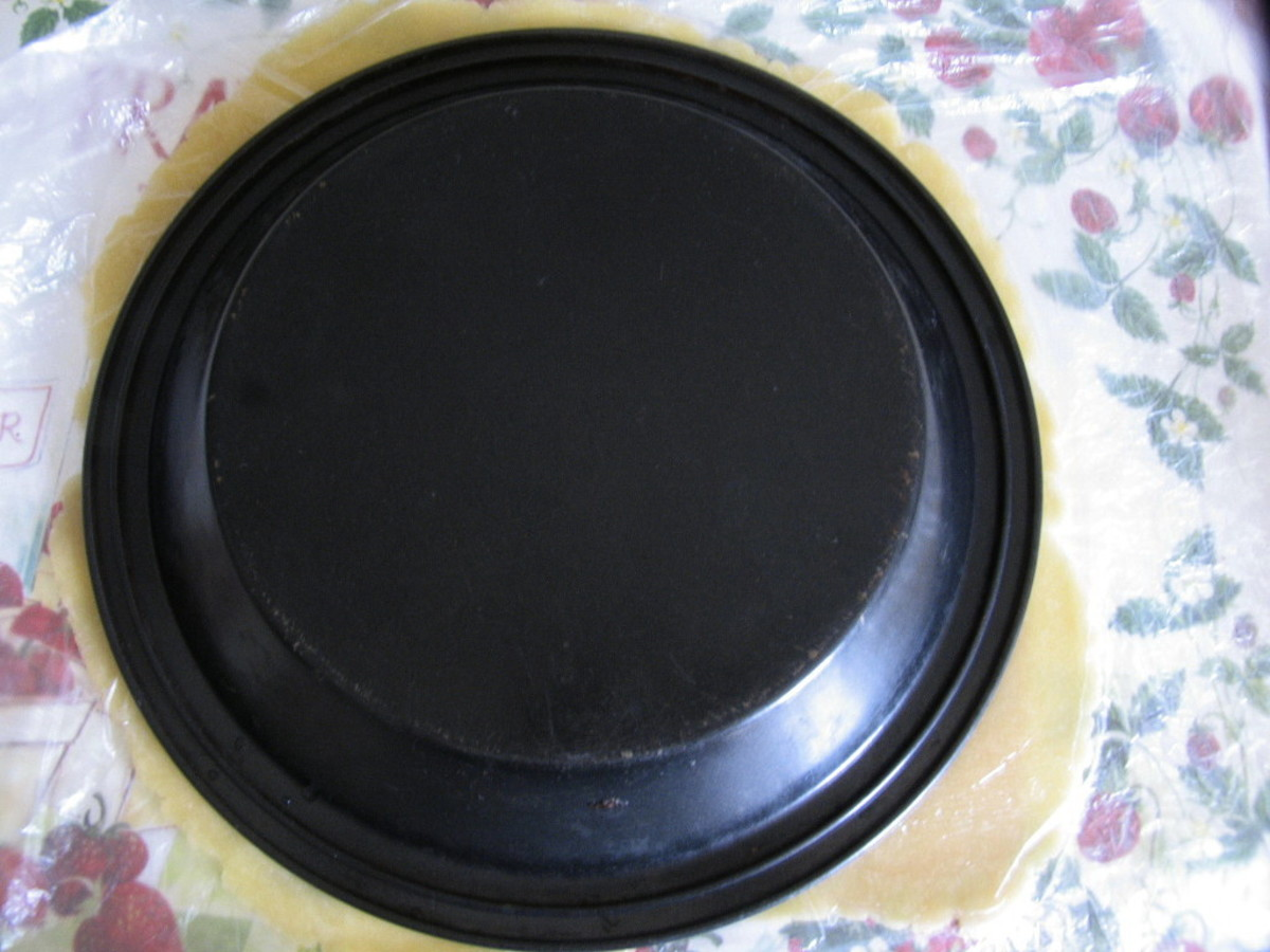 Rolling to Pie pan size
