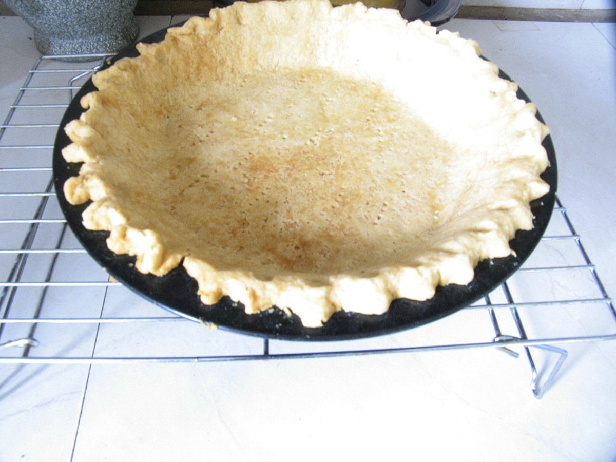A baked oil pastry crust