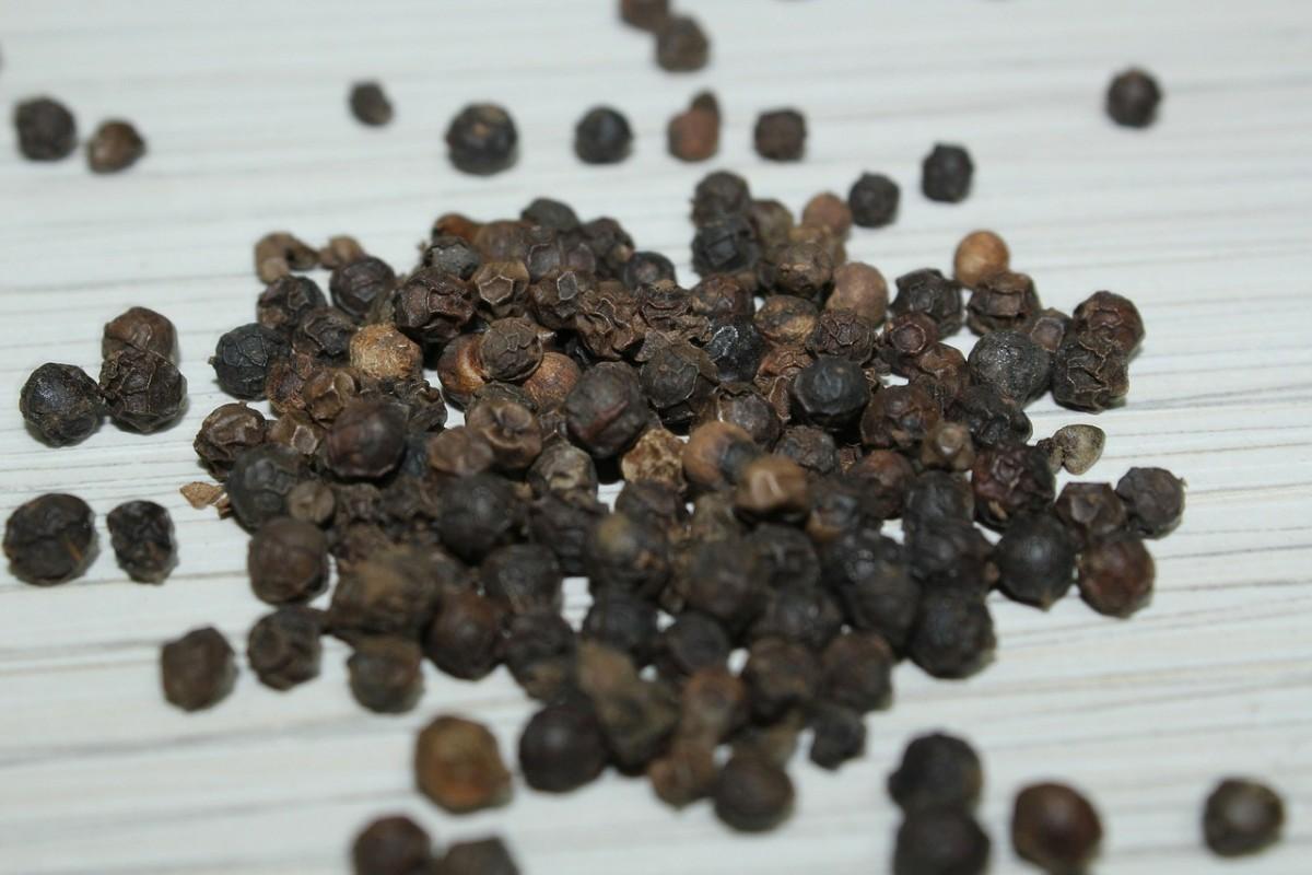 beautiful black peppercorns