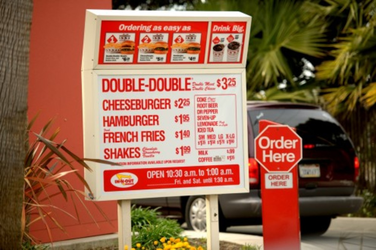 In-N-Out's menu, which essentially hasn't changed in over 70 years.