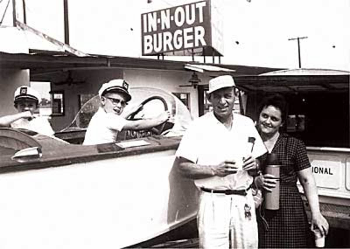 A picture of the Snyder family when they first founded In-N-Out in Baldwin Park, California.