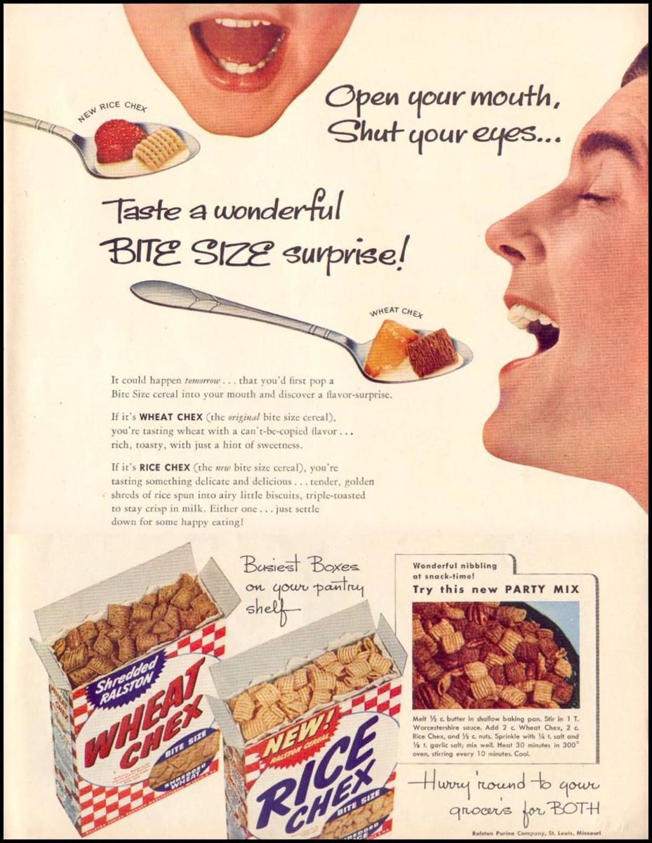 Original Chex Mix recipe as it appeared in an advertisement in Life Magazine, June 16, 1952