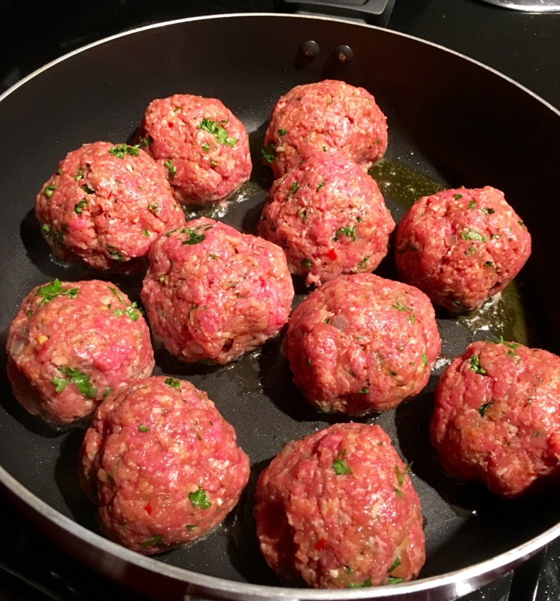 Don't overwork the meatball mixture before cooking