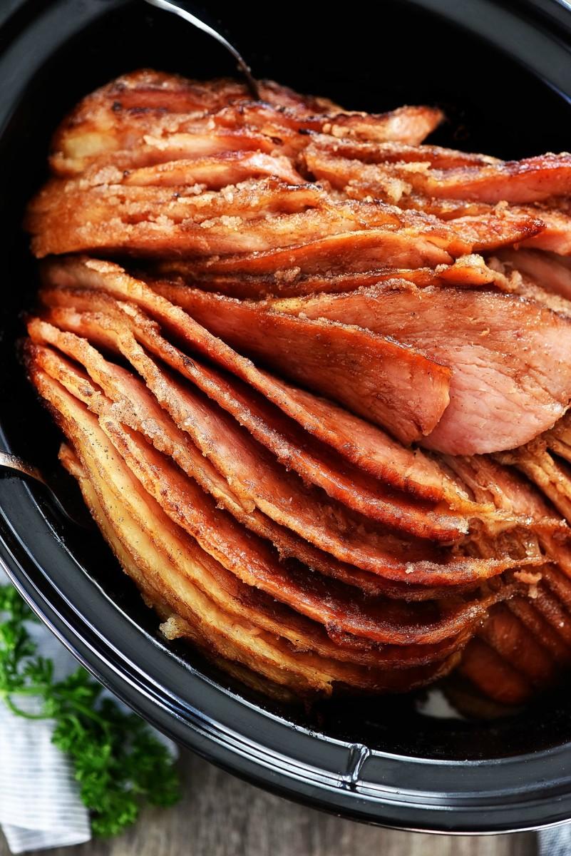 Slow-Cooker Honey-Glazed Ham
