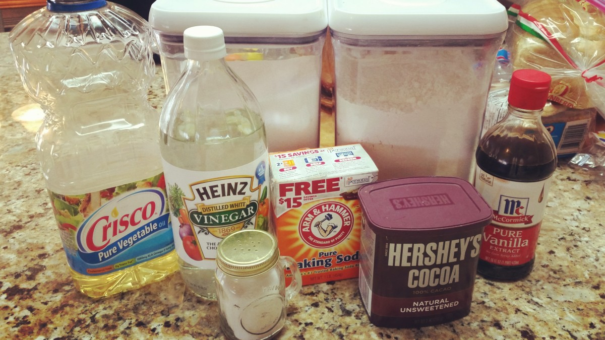 All the ingredients—it's time to bake!