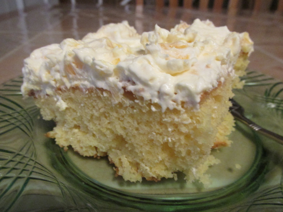 Pineapple Cream Cake ready to eat